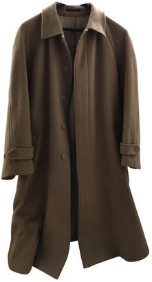 Saint Laurent Camel Wool Coats