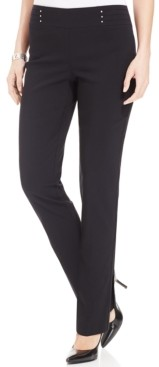 JM Collection Studded Pull-On Tummy Control Pants, Regular, Short, and Long Lengths, Created for Macy's
