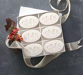 Pottery Barn Monogrammed Oval Paperwhite Soap Set