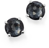 Ippolita Sterling Silver Rock Candy® Mini Doublet Stud Earrings in Clear Quartz and Hematite