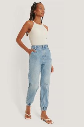 NA-KD Organic Elastic Hem Loose Leg Jeans