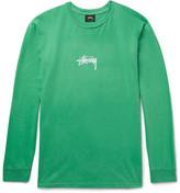 StÃ1⁄4ssy - Printed Cotton-Jersey T-Shirt