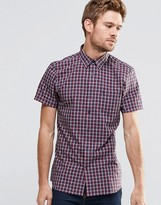 Jack Wills Shirt In Regular Fit In Short Sleeves Check