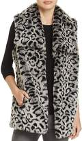 Via Spiga Leopard Print Faux Fur Vest