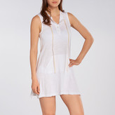 Allen Allen Sleeveless Hooded Henley Dress