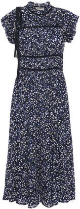 Ulla Johnson Amari Bow-detailed Printed Cotton-gauze Midi Dress