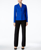 Le Suit Colorblocked Two-Button Pantsuit