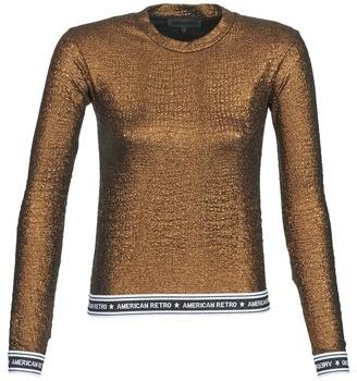 American Retro ALLAN women's Long Sleeve T-shirt in Gold