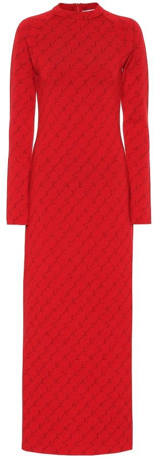 Stella McCartney Logo stretch wool dress