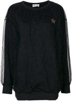 RED Valentino lace layer sweatshirt - women - Cotton/Polyamide - XS