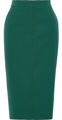 Calvin Klein Striped Wool-twill Pencil Skirt