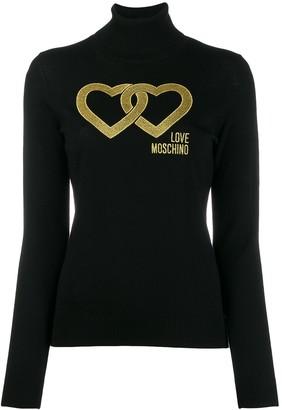 Love Moschino linked heart jumper
