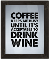 PTM Images Coffee or Wine Framed Silkscreen Glass Wall Art