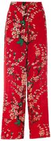 Quiz Red Floral Print Palazzo Trousers