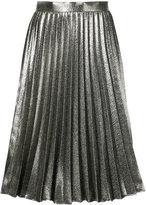 Roberto Collina metallic pleated skirt