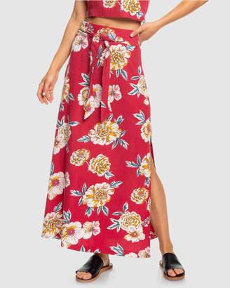 Roxy Womens Island Evasion Printed Maxi Skirt