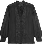 Rebecca Minkoff Riot chiffon and cotton-blend lace shirt