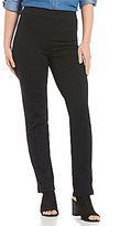 Intro Slim-Her Solid Seam Front Pull-On Straight Leg Pants