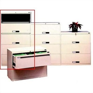 """Tennsco Corp. 5-Drawer Vertical Filing Cabinet Pull Type: Long Pull, Size: 65"""" H x 30"""" W x 17.94"""" D, Finish: Black"""