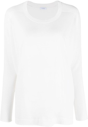 Malo Cashmere-Silk Long-Sleeve Knitted Top