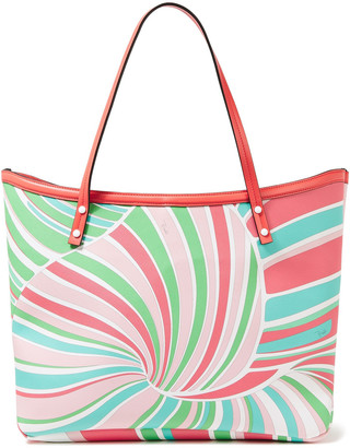 Emilio Pucci Twist Leather-trimmed Printed Coated-canvas Tote