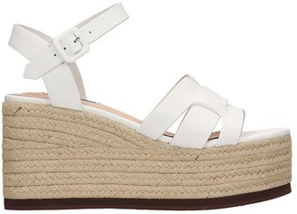 Bibi Lou Wedges In White Leather
