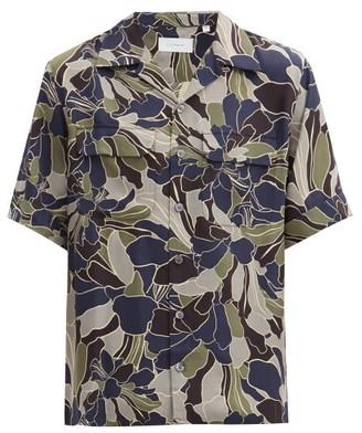 Equipment Short-sleeved Floral-print Twill Shirt - Multi
