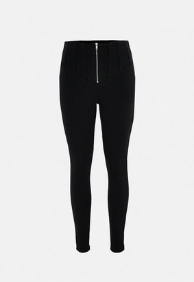 Missguided Black Highwaisted Superstretch Skinny Jeans