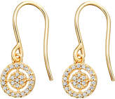 Astley Clarke Mini Icon Aura 14ct yellow-gold diamond drop earrings