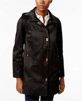 Jones New York Petite Hooded Turnkey Raincoat