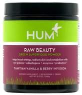 Hum Nutrition Raw Beauty Green Super Food Powder Tahitian Vanilla and Berry Infusion