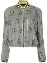 Giamba zebra print bomber jacket - women - Silk/Polyester - 44