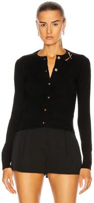 Versace Long Sleeve Sweater in Black   FWRD