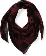 Milana Skulls Woven Printed Square Scarf