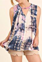 Umgee USA Tyedye Sleeveless Top