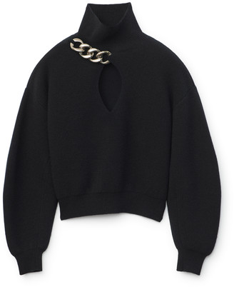 Collection Chain Link Keyhole Pullover