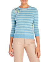 Yumi Embroidered Stripe Sweater