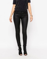 Only Ultimate Coated Black Skinny Jeans