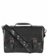 Boconi Men's 'Becker' Leather Messenger Bag - Black