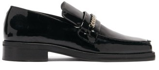 Martine Rose Roxy Curb-chain Patent-leather Loafers - Black
