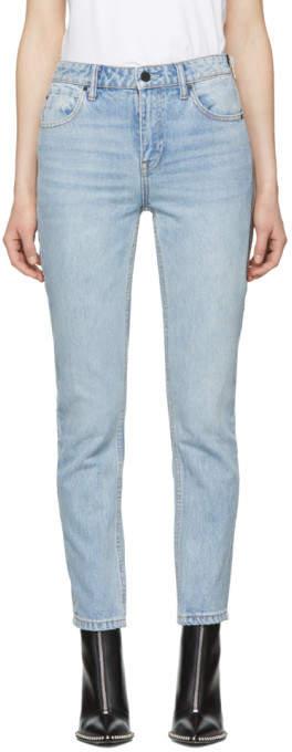 Alexander Wang Blue Cult Side Zip Jeans