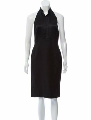 Ralph Lauren Purple Label Sleeveless Halter Midi Dress w/ Tags Black