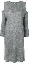 IRO bias cut cold shoulder dress - women - Linen/Flax - 34