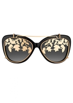 Matthew Williamson Black Cat Eye Sunglasses