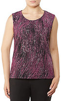 Allison Daley Scoop Neck Sleeveless Knit Top