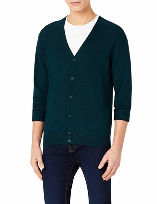 Meraki Amazon Brand Men's Fine Merino Wool V-Neck Cardigan