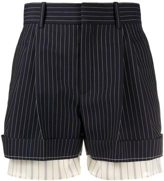 Chloé Pinstripe Print Shorts