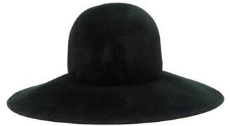 Lola Hats Biba Wide Brimmed Felt Hat - Womens - Dark Green