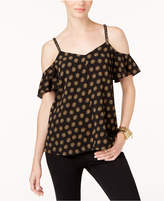 MICHAEL Michael Kors Printed Cold-Shoulder Top, a Macy's Exclusive Style