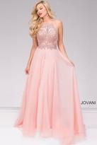 Jovani Chiffon Halter Neck Prom Dress 49499